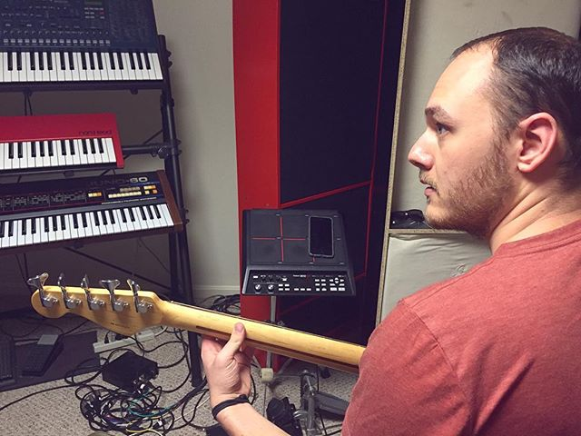Christian's turn. #bass #bassist #fresh #music #funk #pop #synthpop #musicalinstrument