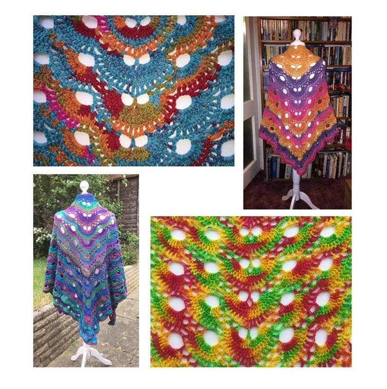 Virus Shawl Pattern 24 Carat Crochet