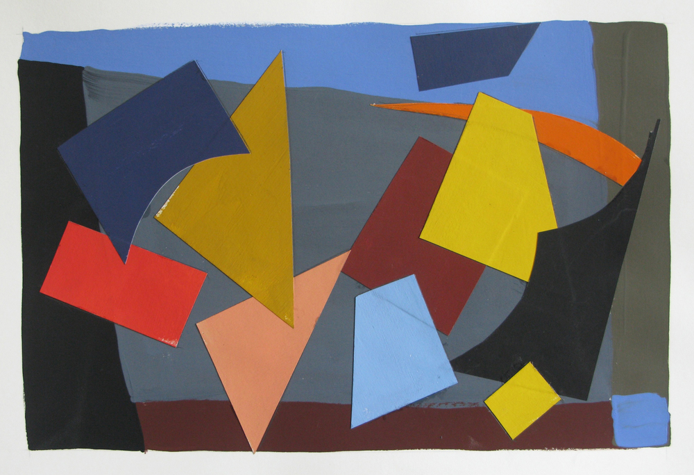 Zephyr , gouache cut paper, 2012