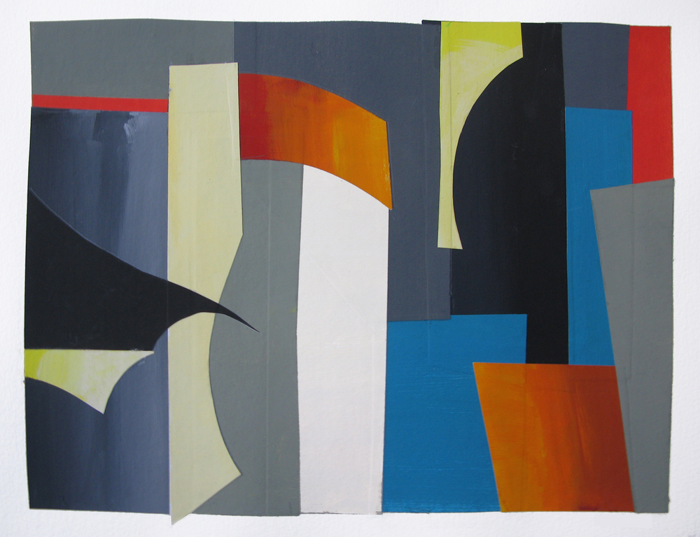 Grays , gouache cut paper, 2012