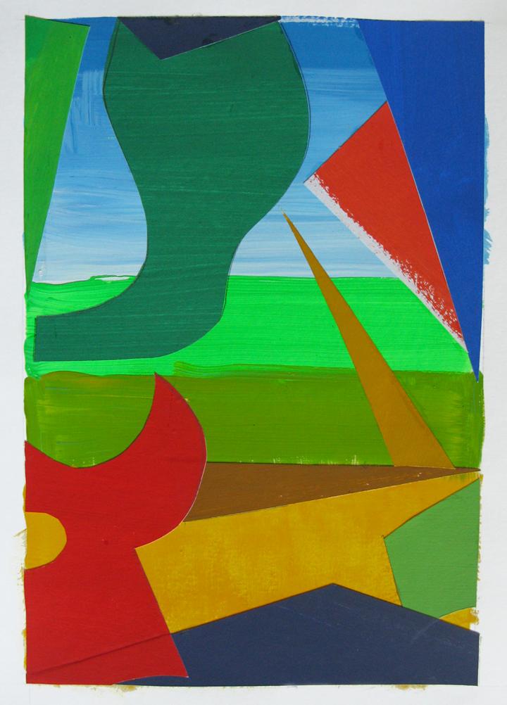 Summer I , gouache cut paper, 2013