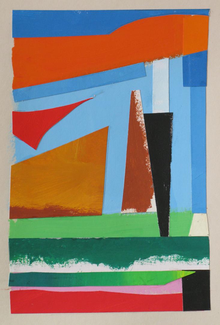 Summer II , gouache cut paper, 2014