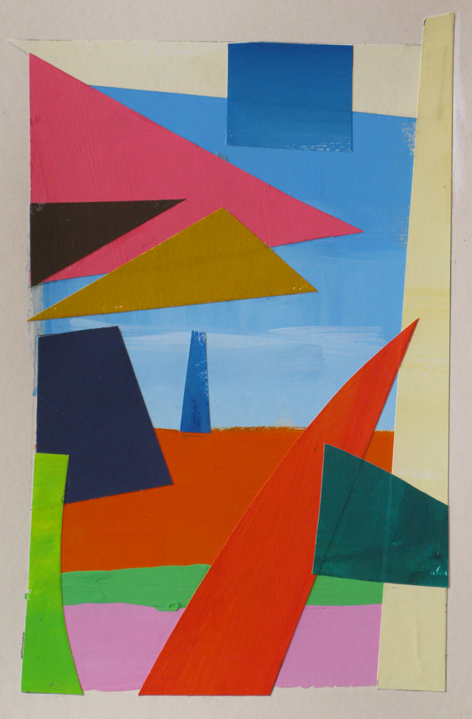 Summer III , gouache cut paper, 2014