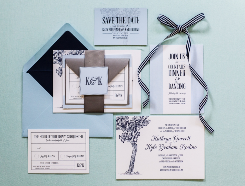 Save the Date & Invitation Suite by Rebecca Rose Creative | Photography by Sara Logan Photography