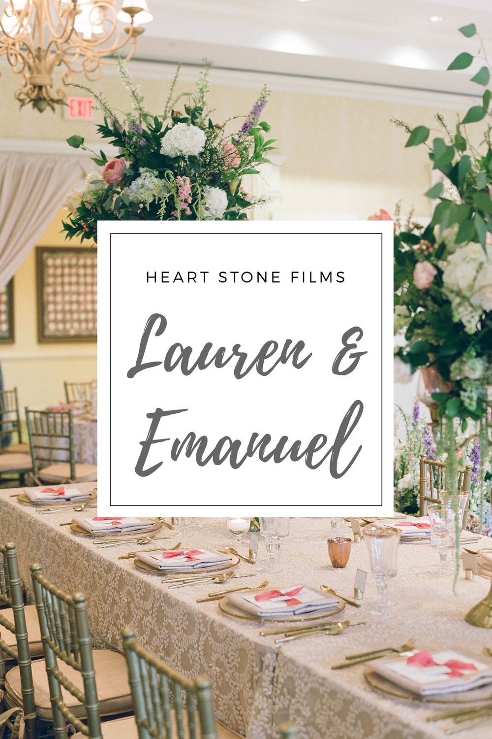 Click the image above to view Lauren and Emanuel's short highlight film by Heart Stone Films
