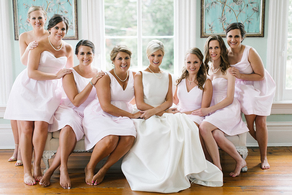 Bridal Party at Merrimon Wynne