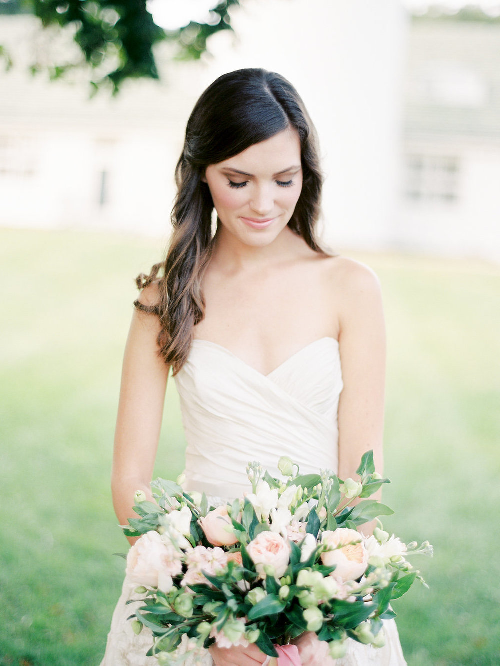 Bridal Bouquet with Juliet Garden Roses | Nancy Ray Photography