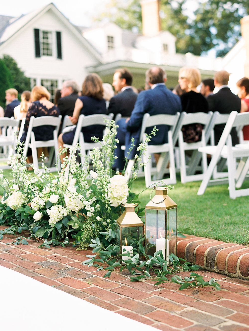 Flowers lining the aisle