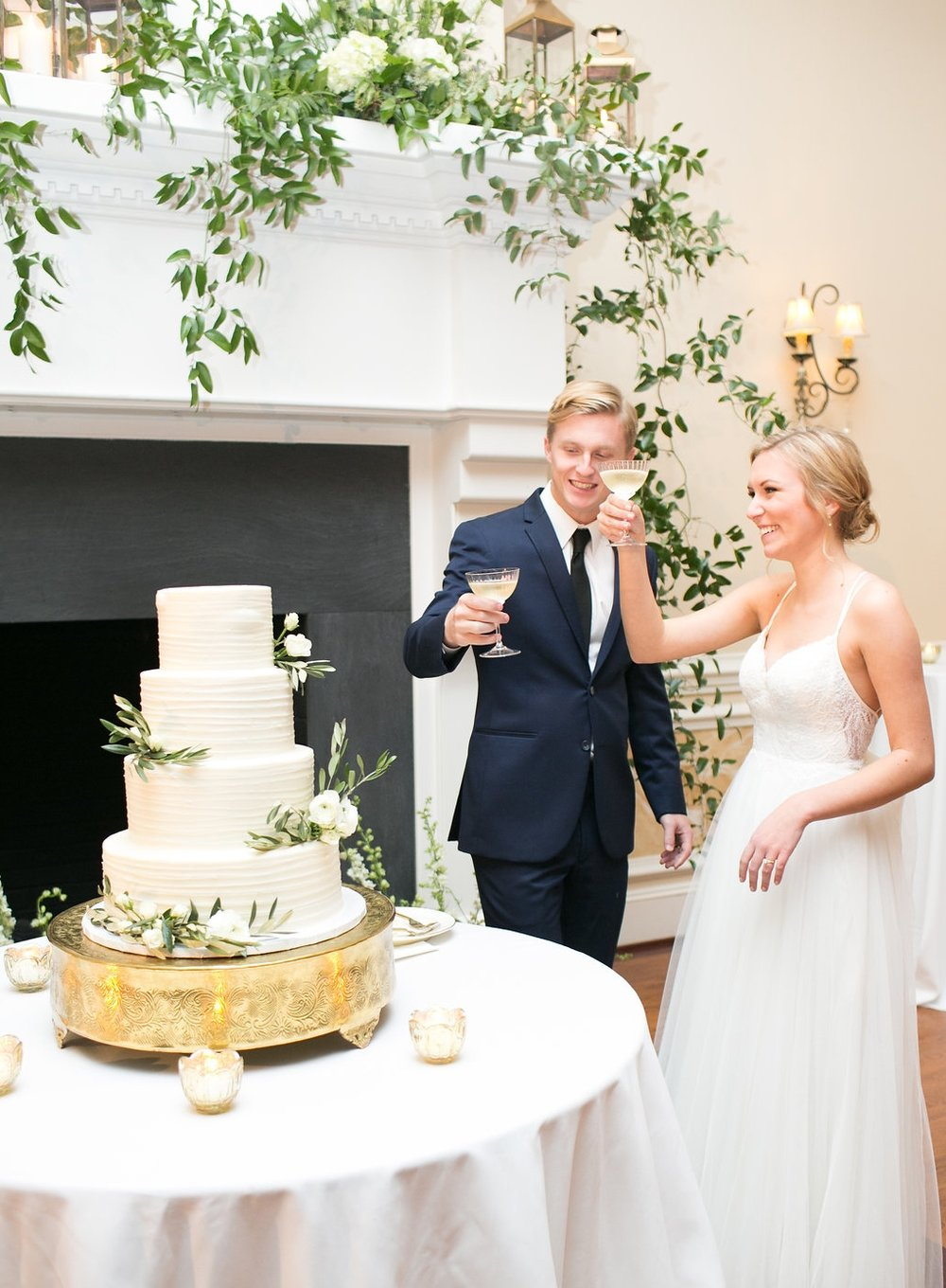 Cake Cutting with the Bride and Groom