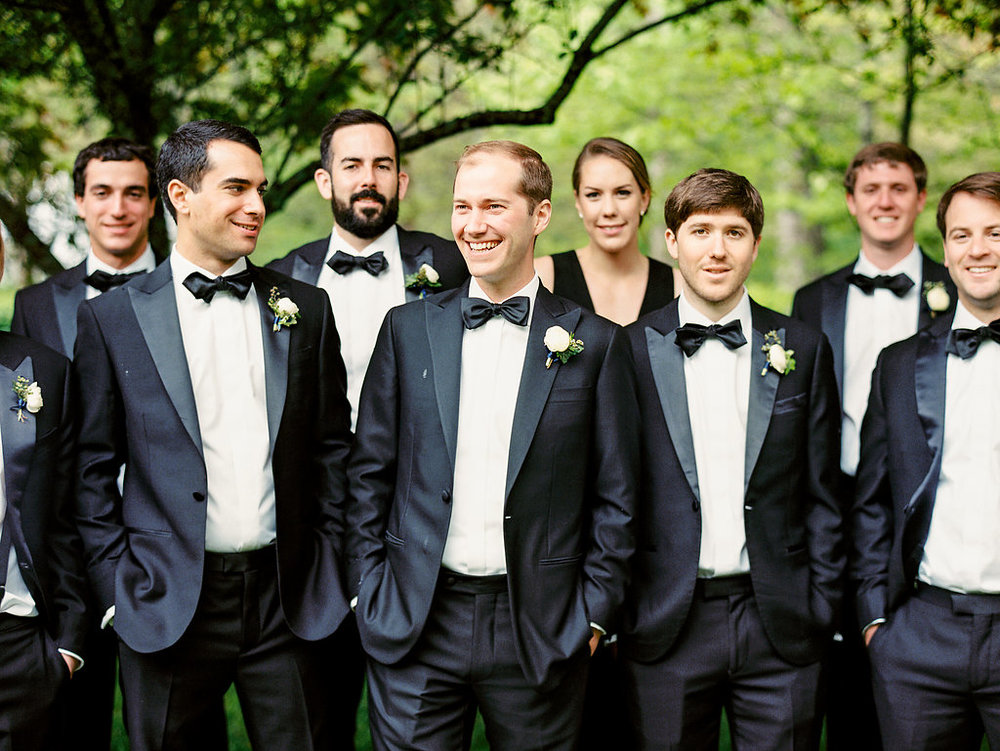 Groomsmen at Old Edwards Inn
