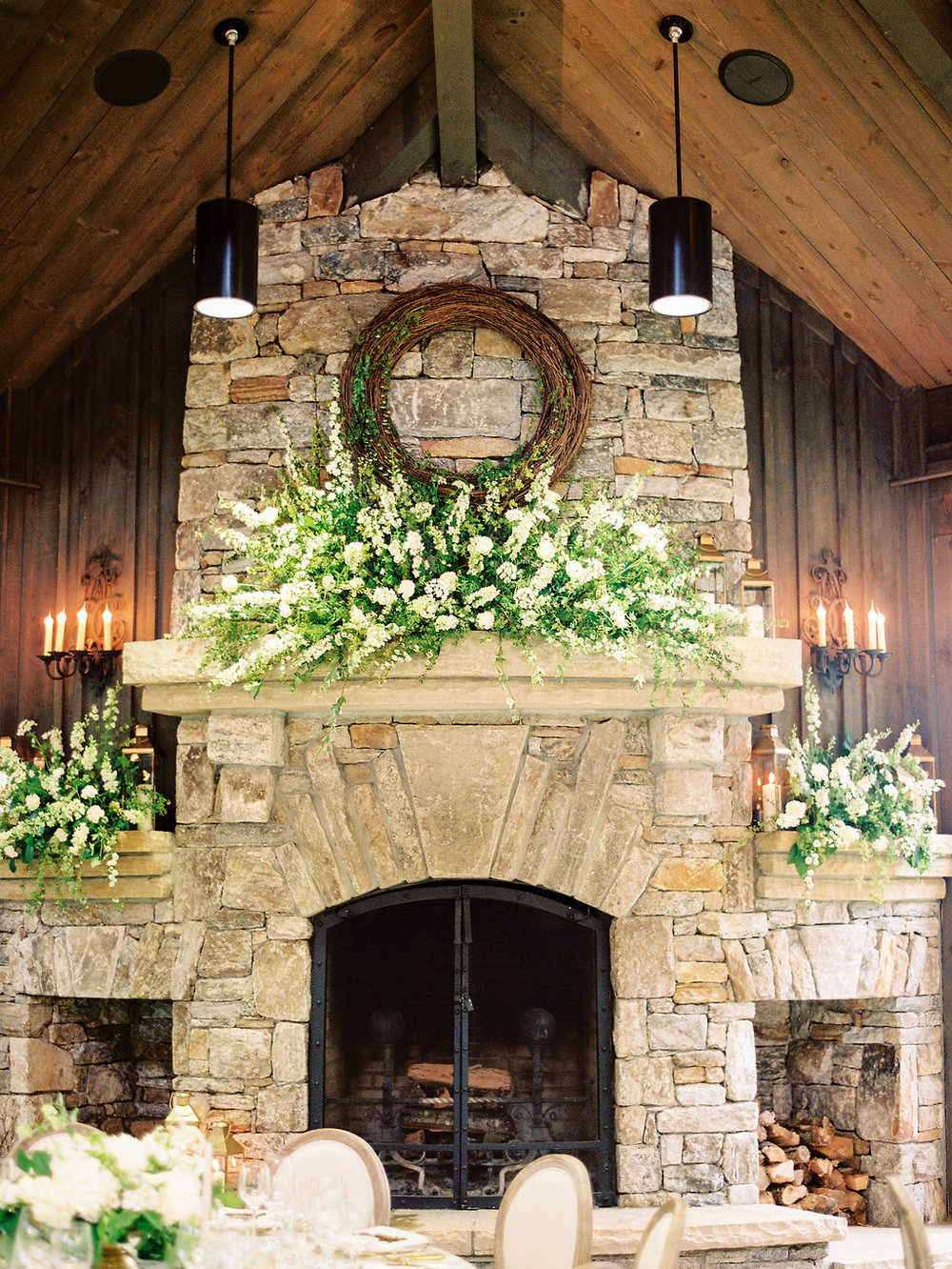 Fireplace at Old Edwards Inn Wedding