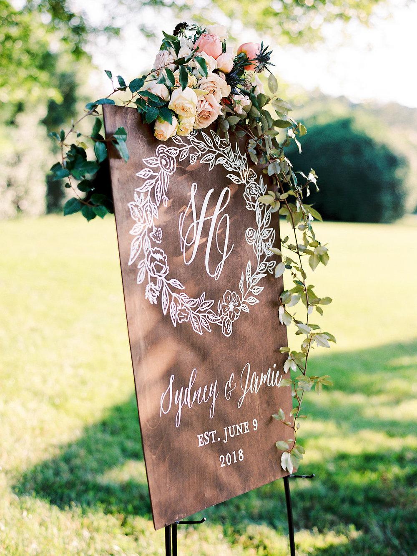 Custom Wedding Monogram Artwork Sign