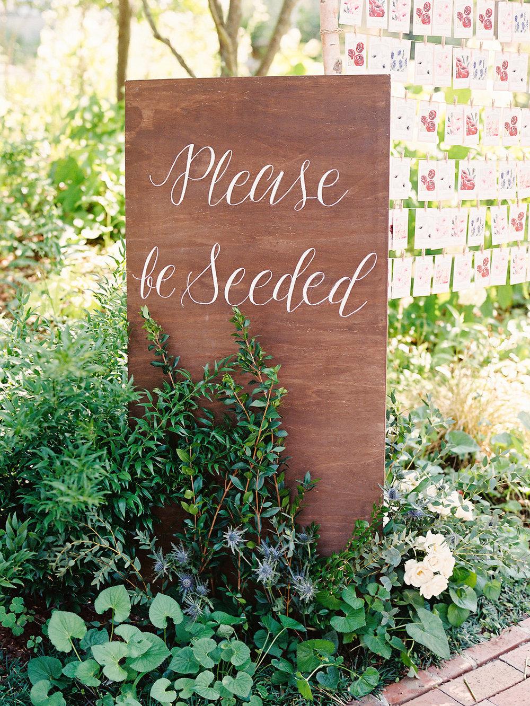 Please Be Seeded Escort Card Display