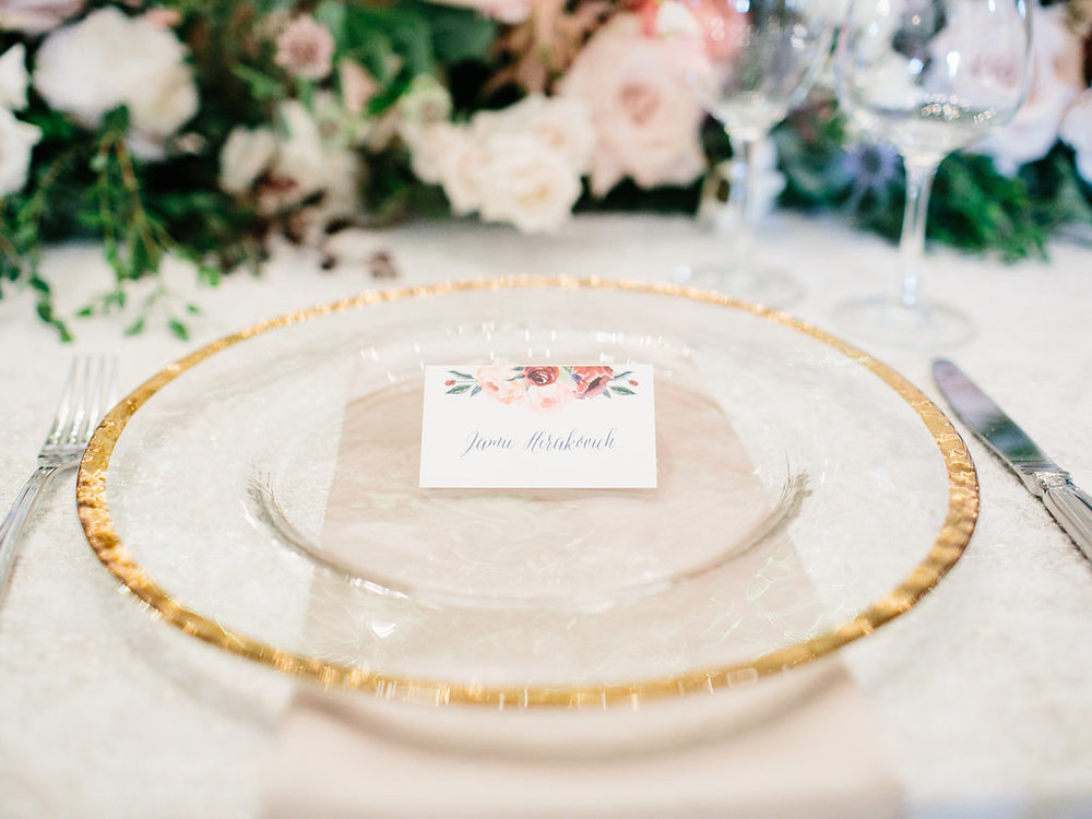 Place Cards for Wedding Tabletop