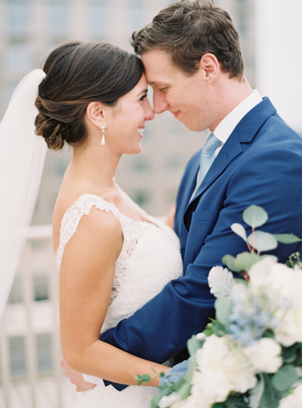 Paige and Mark on the roof of the Kimpton Cardinal Hotel |  Heather Beerman Photography