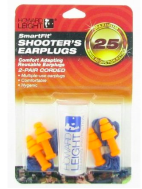 5. Howard Leight by Honeywell R-01520 Smart Fit Corded Multiple-Use Ear Plugs, Orange with Blue Cord, 2-Pair - $5.79