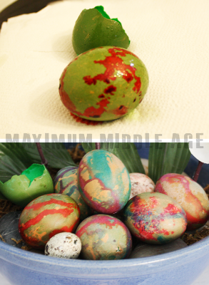 IMAGE: JEN SELK /  Dinosaurs laid eggs too!
