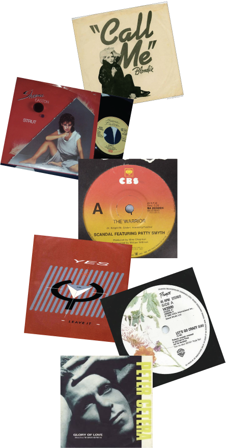 Images via Chrysalis Records, EMI, Columbia, Atlantic, Warner Bros, Warner