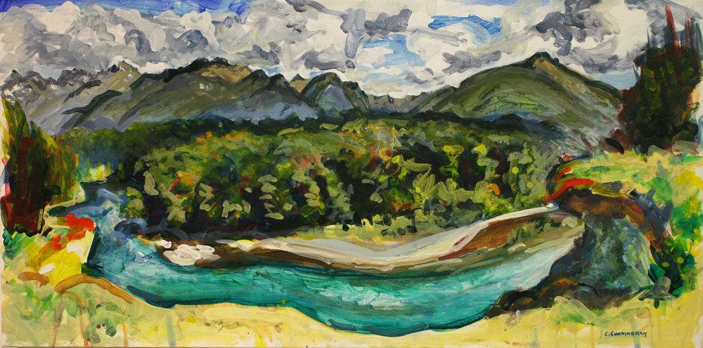 """""""On the Edge"""" Acrylic on canvas Catriona Cunningham"""