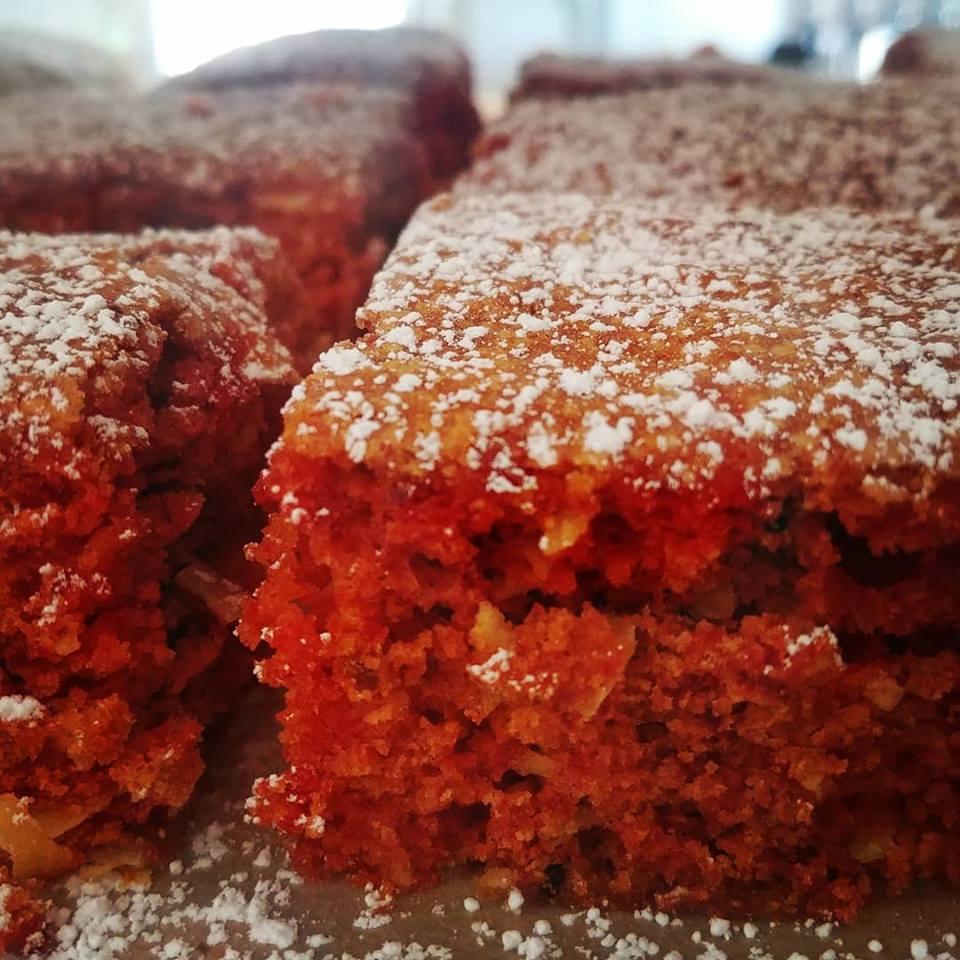 Carrot turmeric coconut cake