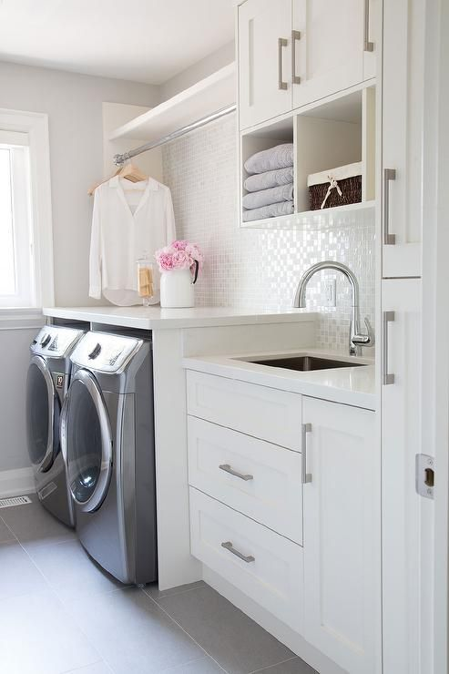 soft and soothing laundry room