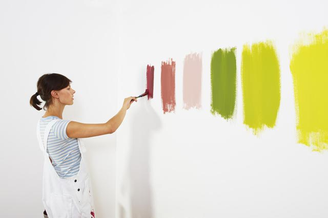 Painting swatches with a negative space in between helps your eye see each color.