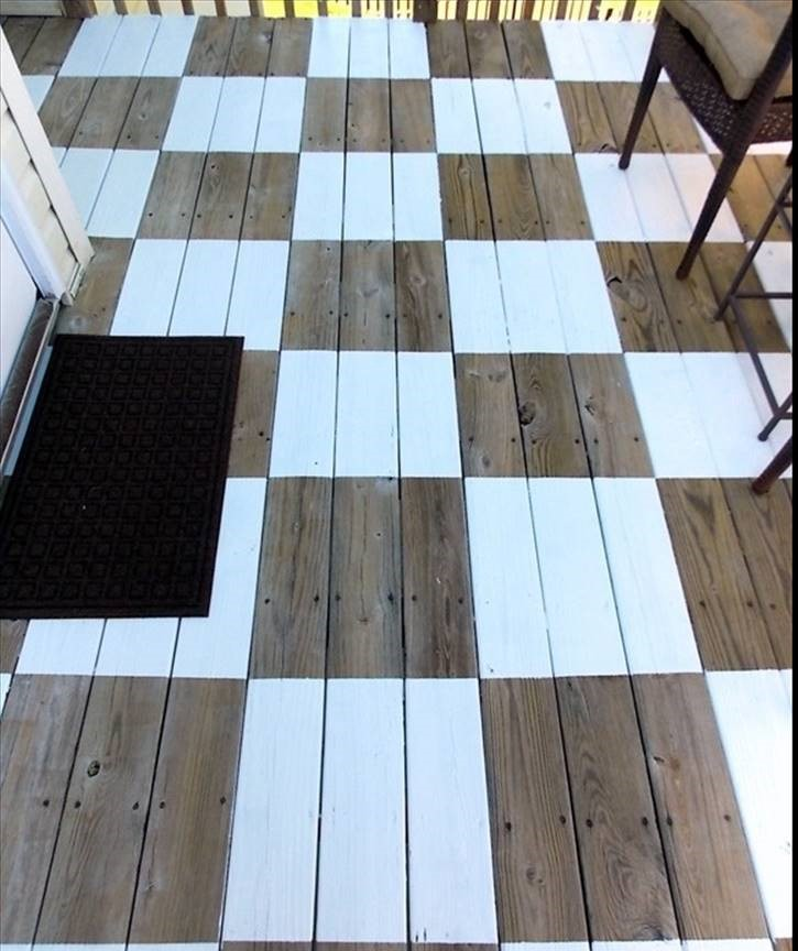 Painted checkerboard floor, courtesy of Pinterest