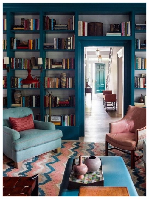 Surrounding yourself with objects you love in your home creates a feeling of autheticity - bringing it together with a cohesive color palette shows off this colection in a sophisticated way. Photo courtesy of Pinterest.