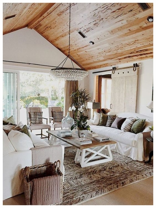 This cozy living room is all about comfort. Photo courtesy of Pinterest