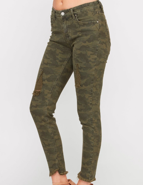 63c8866591a Camo Frayed Edge Jeans — L'Amore Elements