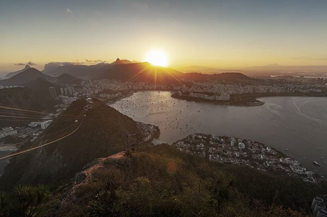 Rio you absolute beauty! Photo taken from the top of Sugarloaf #freelance #cameraop #riodejaneiro #sugarloaf Highly recommend going up here to watch a beautiful sunset! And I'm definitely coming back here for a climbing trip! There's a 9 pitch sport 5.10 climb up to the top of sugarloaf!