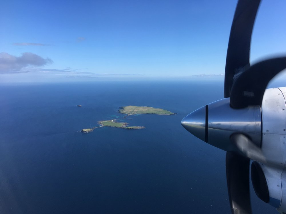 The Orkney Islands from the air.