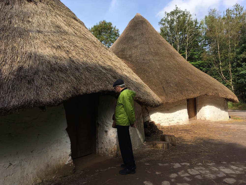 Round houses at St Fagan's Folk Life Museum.