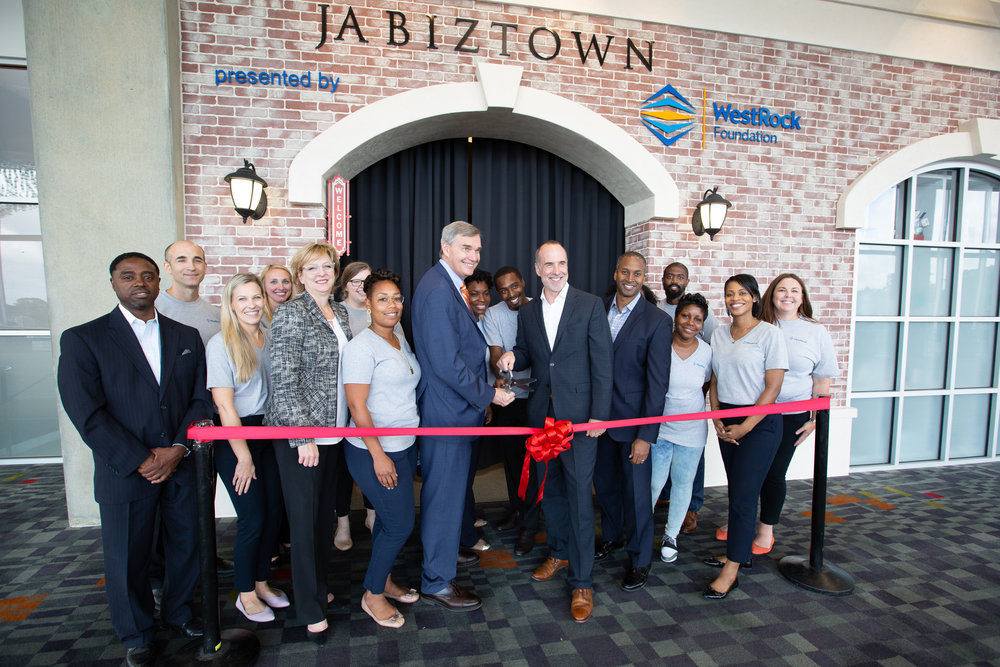 Unveiling of JA BizTown presented by WestRock Foundation