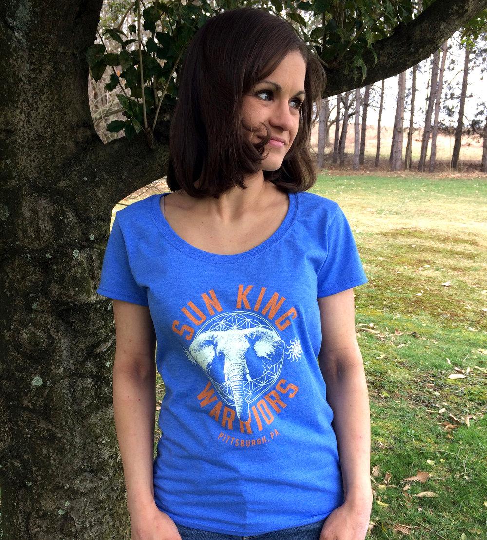 759f3906b65ae0 Ladies Elephant Tee Blue
