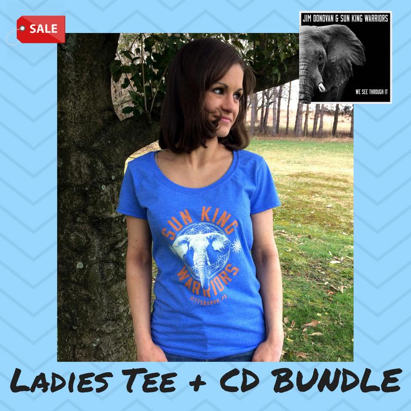 6f9ed1a57719f0 Ladies Elephant Tee + Autographed CD Bundle — Jim Donovan   Sun King ...