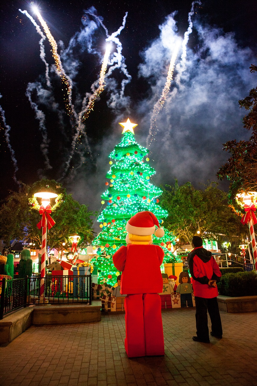 Tree Lighting and Fireworks at Legoland California Photo Credit: legoland