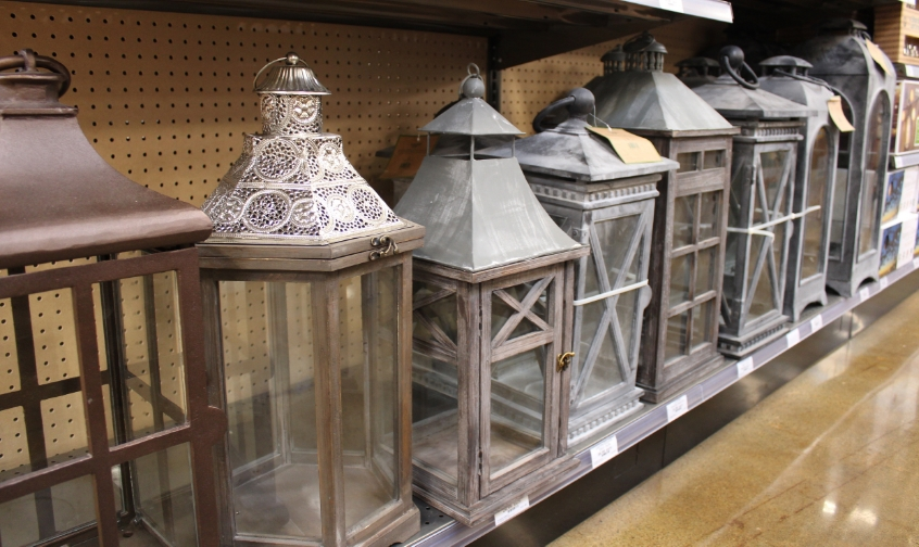 Lanterns for any outdoor living space, just add a candle.