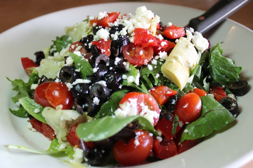 Wild Arugula Mediterranean Salad. Less the almonds and I added black olives.