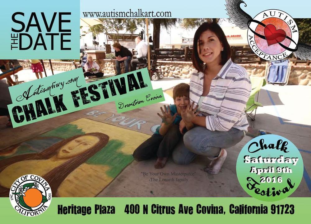 Autism Chalk Festival Covina
