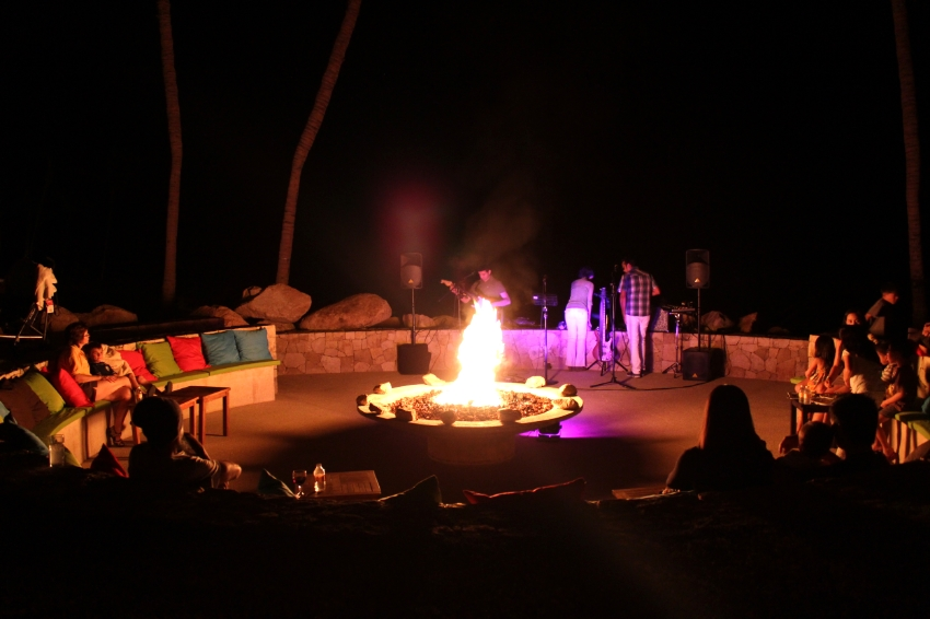 Nightly Fogata (fire) with live Trio to finish off the days in Cabo