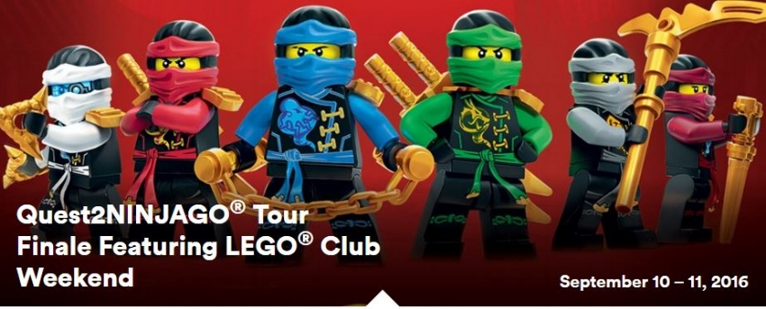 Quest2NINJAGO® Tour Finale featuring LEGO® Club Weekend