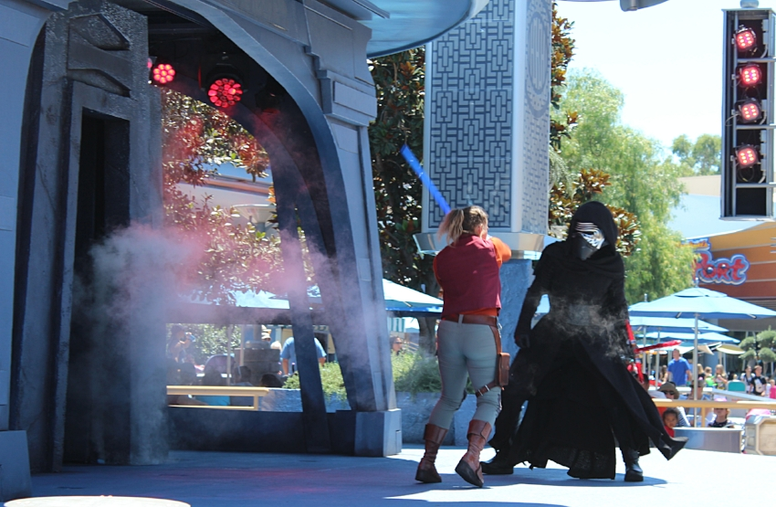 Jedi Training Directly in front of the Star Wars Launch Pad
