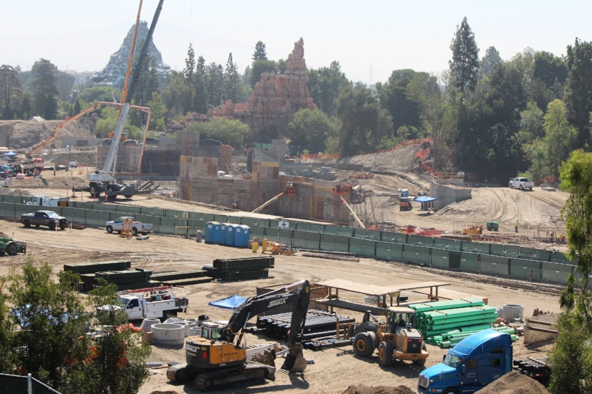 Big Thunder Mountain and the area where Rivers of America will be re-incorporated. (Taken 8/17/16)