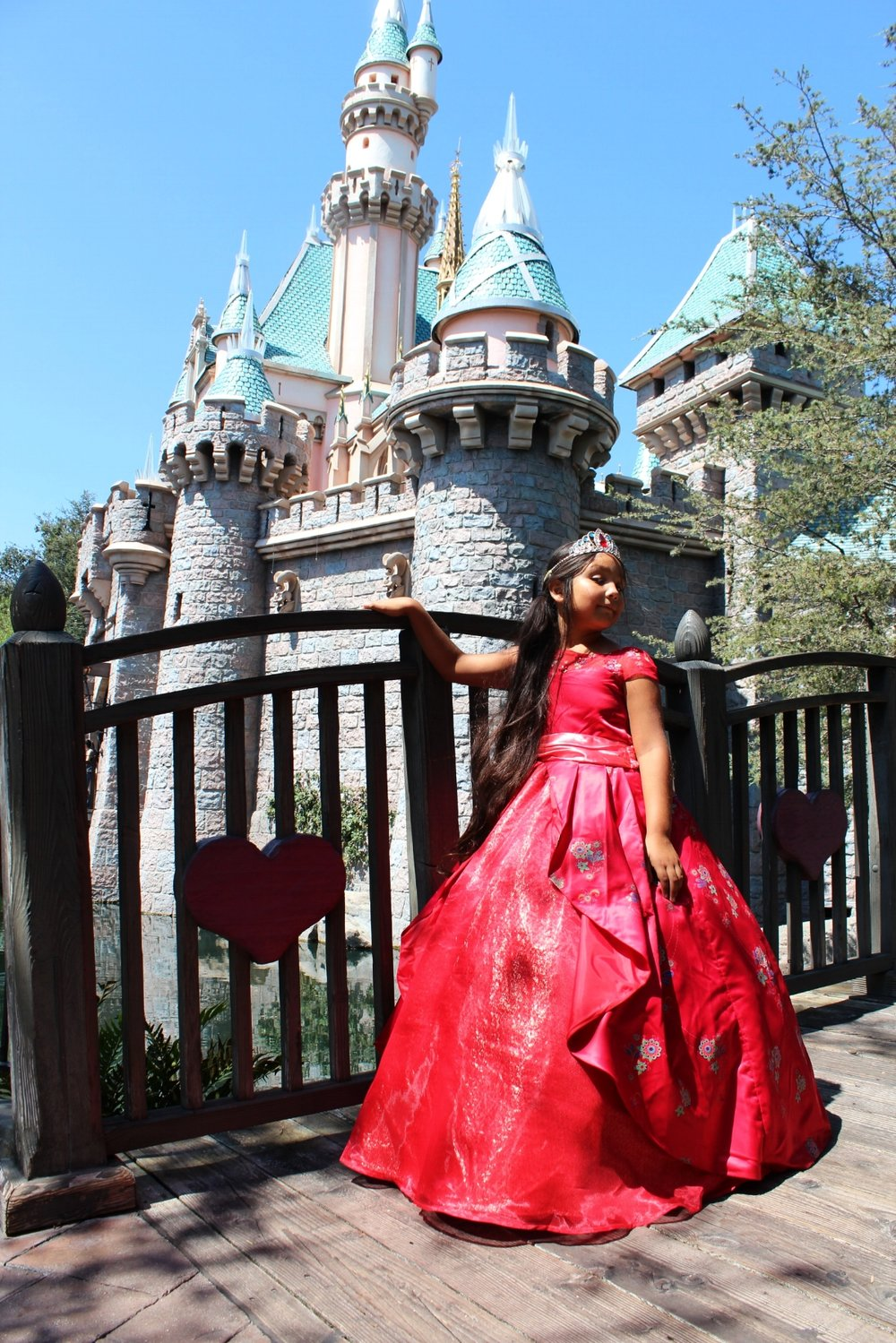 She looks like she is ready to take over the castle with that expression. The birthday girl at her happy place, Disneyland. She fits in quite well wouldn't you say?