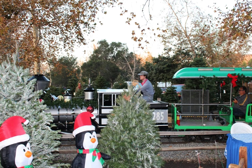 irvine park railroad christmas train c cleverly catheryn - Irvine Christmas Train