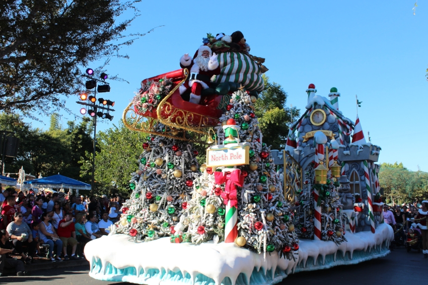 A Christmas Fantasy Parade check for times via the official Disneyland APP