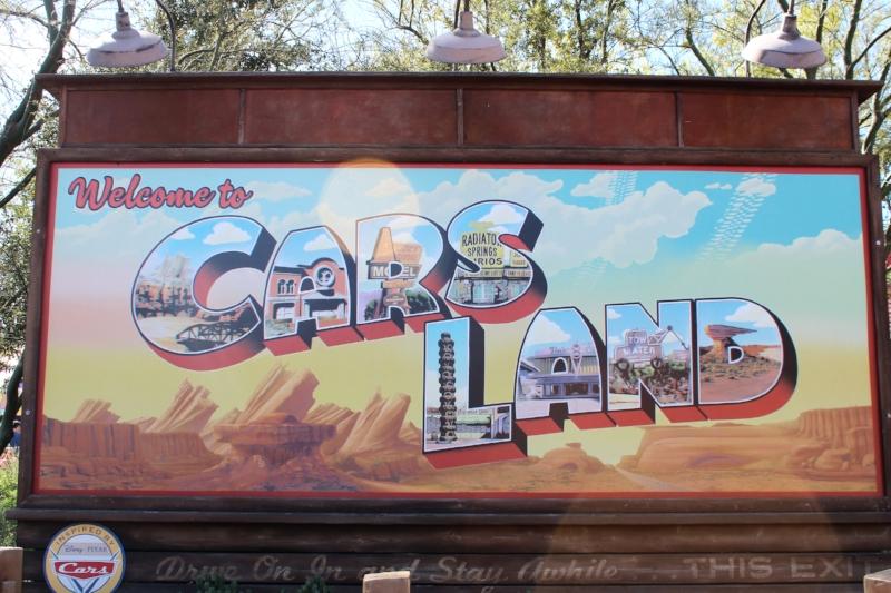 Disney California Adventures Welcome to Carsland Postcard