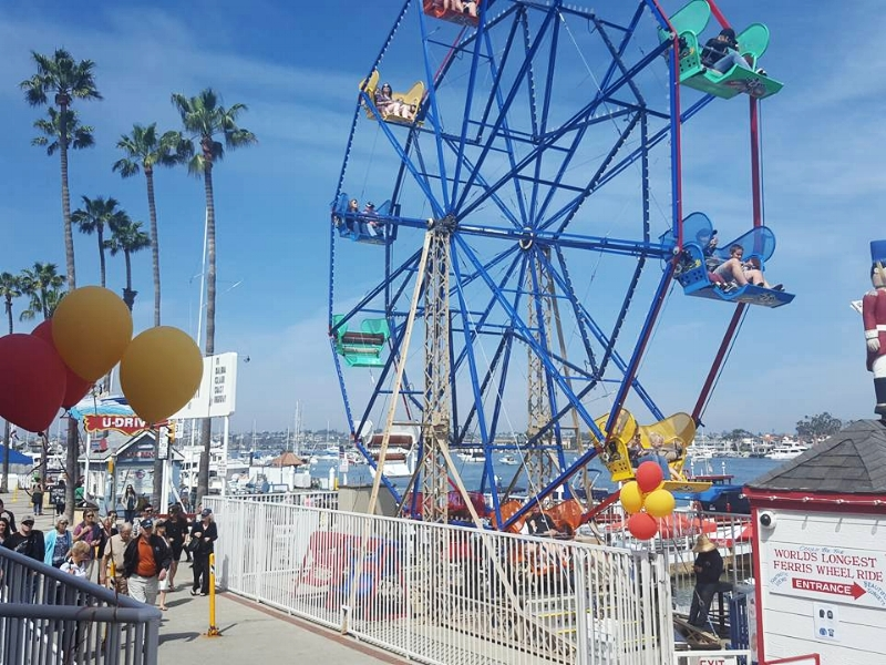 Balboa Fun Zone and that Ferris wheel is just $4 a ride!