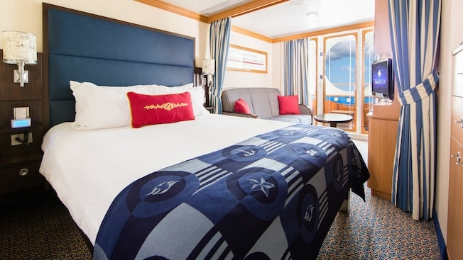 Photo Credit: Disney Cruise Line Deluxe Oceanview Stateroom with Navigator's Verandah